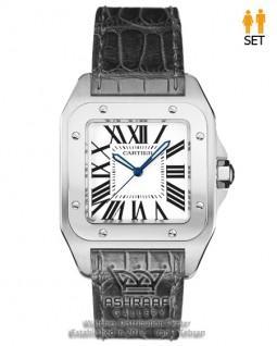 ساعت مردانه کارتیه سانتوز Cartier Santos 100-SB