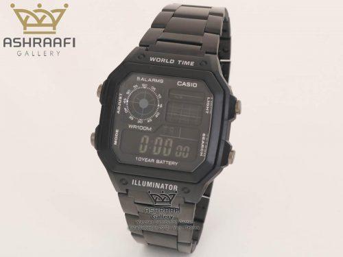 قیمت ساعت های کپی کاسیو تمام مشکی Casio AE-1200WHD
