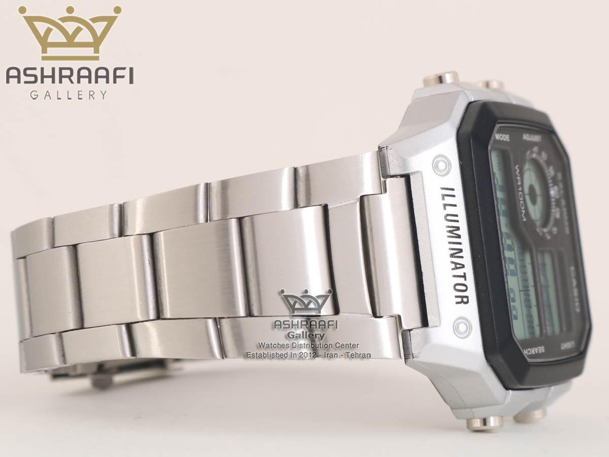 ساعت نقره ای کاسیو Casio AE-1200WHD