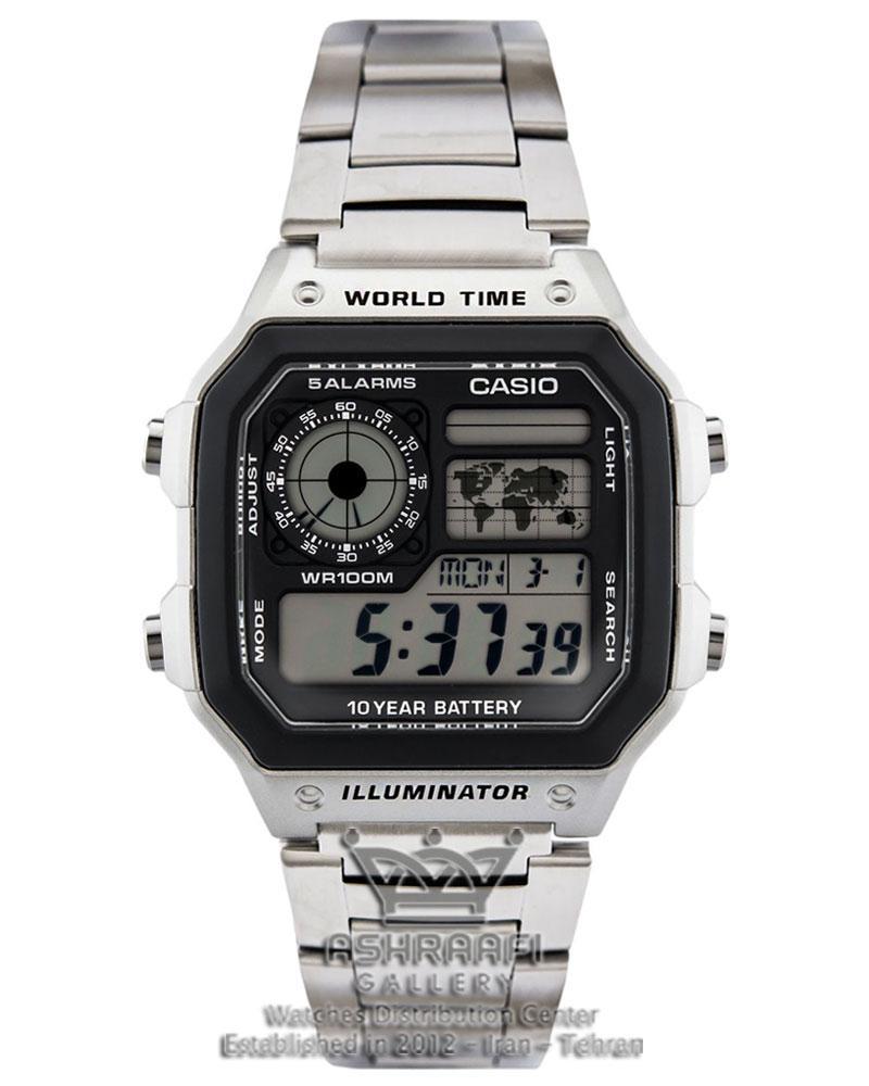 ساعت مربع کاسیو Casio AE-1200WHD-1AVDF
