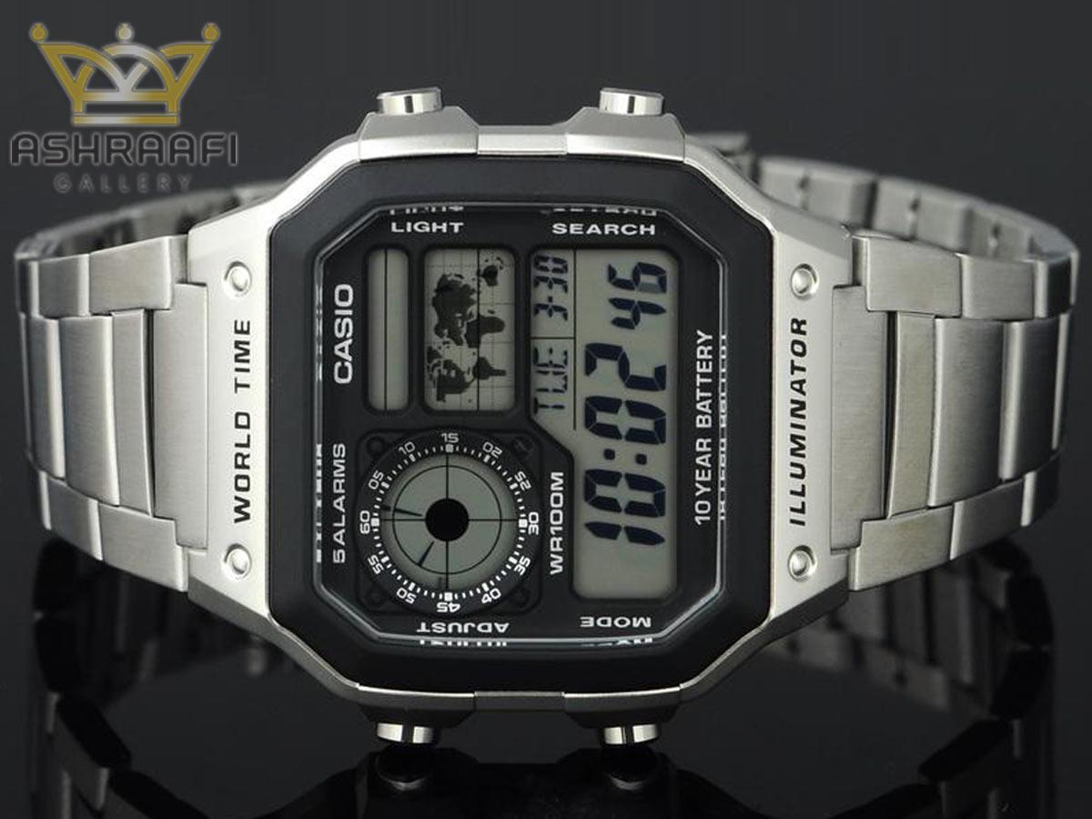 ساعت مستطیل کاسیو AE-1200WHD-1AVDF-03