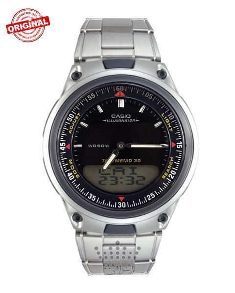 ساعت استیل صفحه مشکی کاسیو Casio-AW-80D-1AVES-02