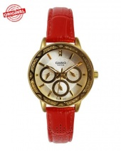 ساعت مچی زنانه کاسیو با بند قرمز Casio Ltp-2087gl-4avdf