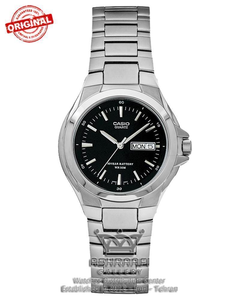 ساعت اورجینال کاسیو صفحه مشکی Casio MTP-1228D