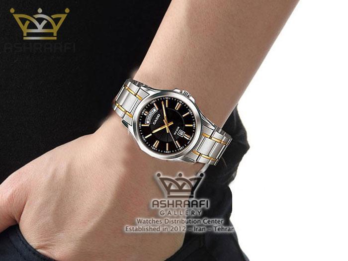 ساعت کاسیو Casio MTP-1381G-1AVDF روی مچ دست
