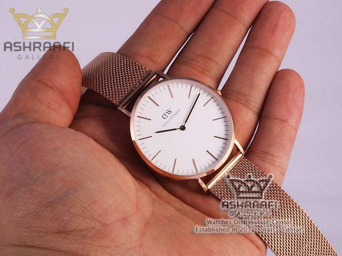 عکس روی دست ساعت دنیلی ولینگتونDaniel Wellington 00117HRB