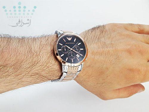 نمای روی مچ ساعت امپریرو آرمانی مدل AR-2452-05