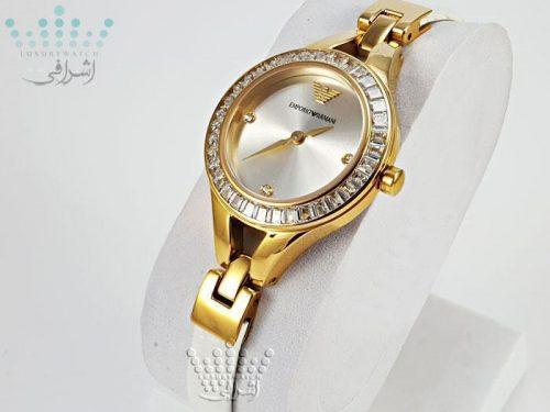 ساعت زنانه نگین دار آرمانی EMPORIO ARMANI AR-7328