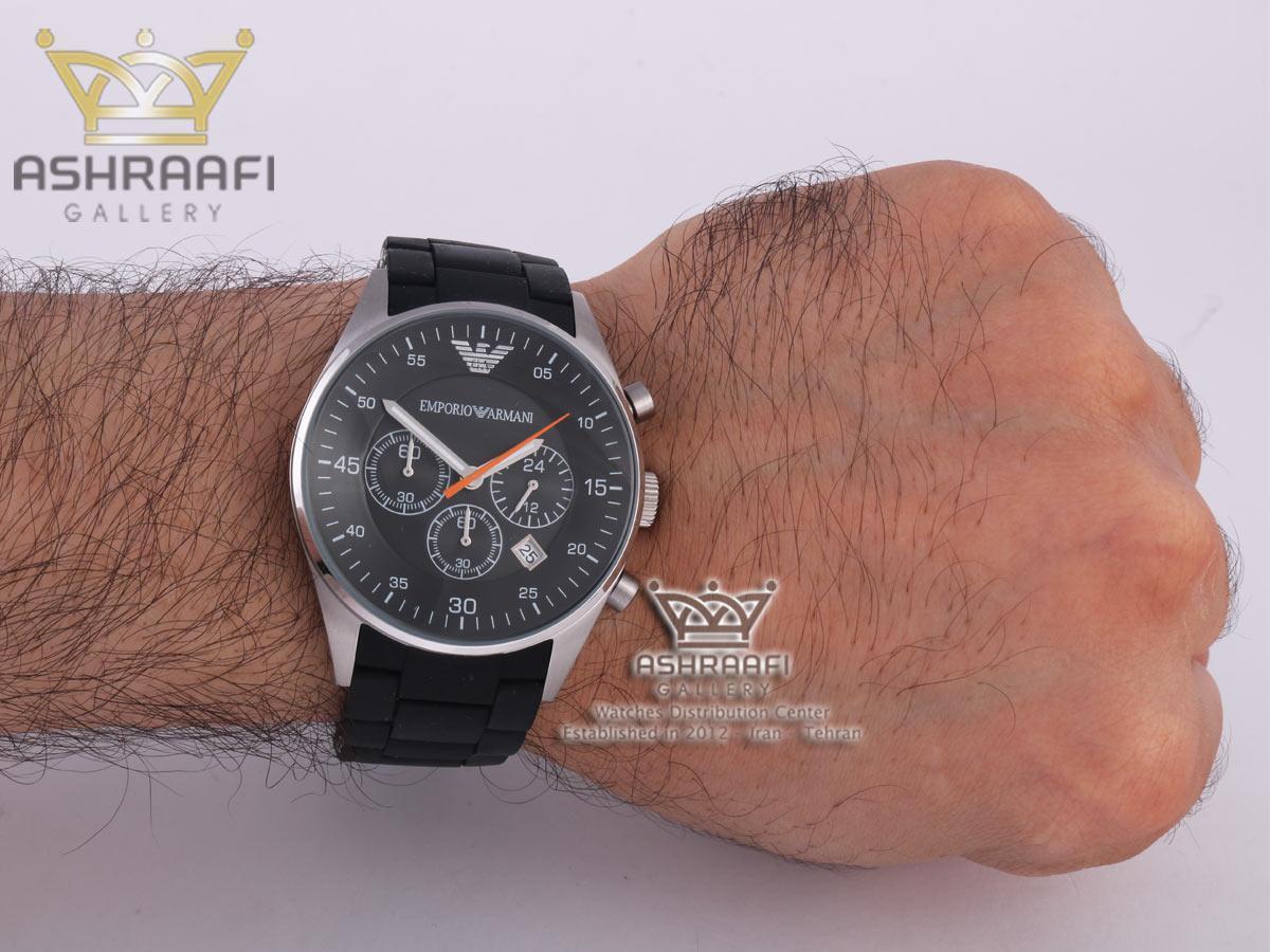 عکس روی مچ ساعت آرمانی Emporio Armani AR5858