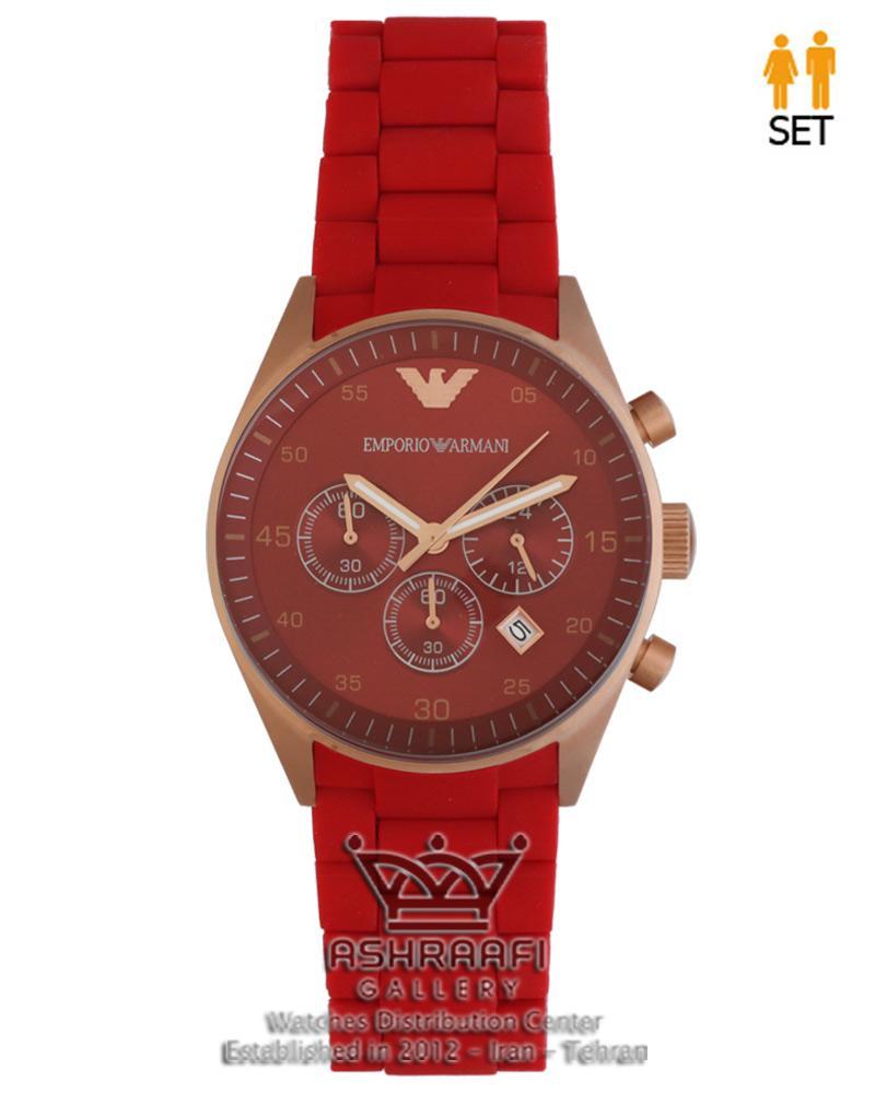 ساعت امپریو آرمانی قرمز رنگ Emporio Armani AR5890R