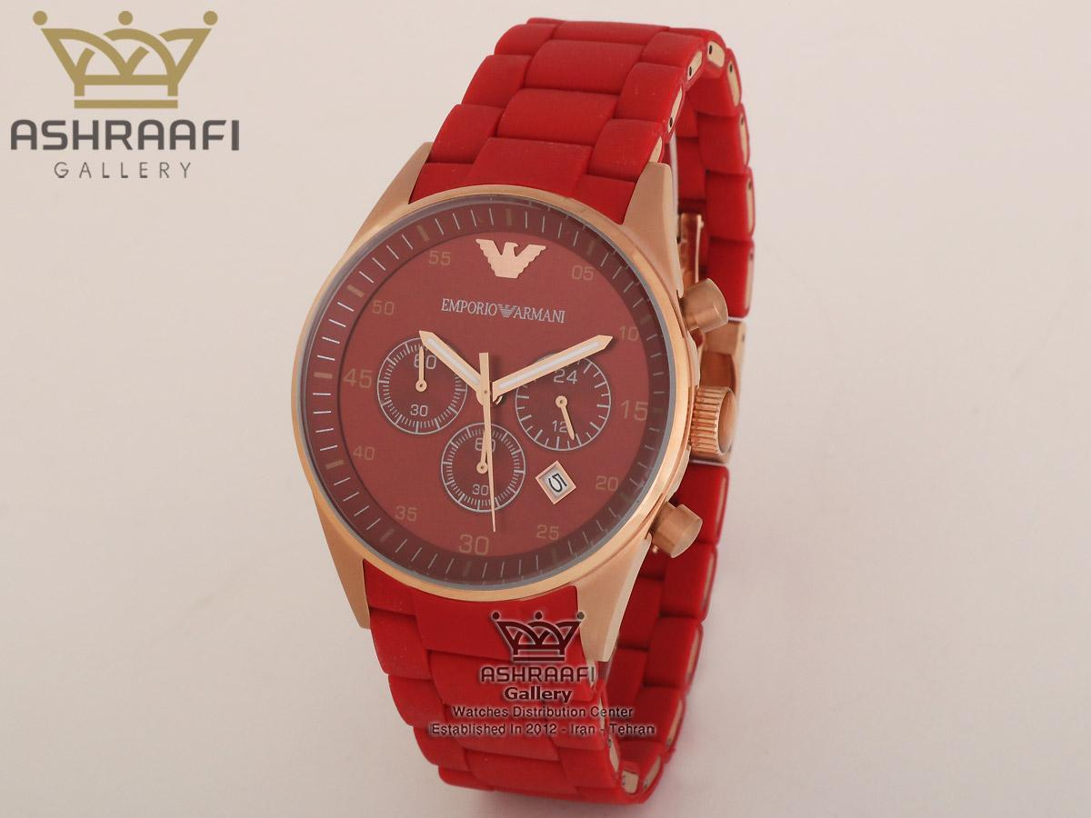 ساعت مردانه امپریو آرمانی قرمز رنگ Emporio Armani AR5890R