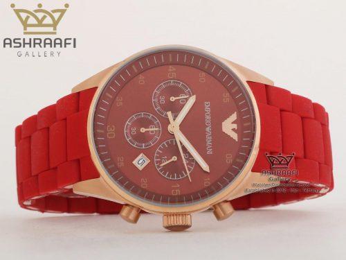 ساعت رنگ قرمز ست زنانه و مردانه آرمانیEmporio Armani AR5890R