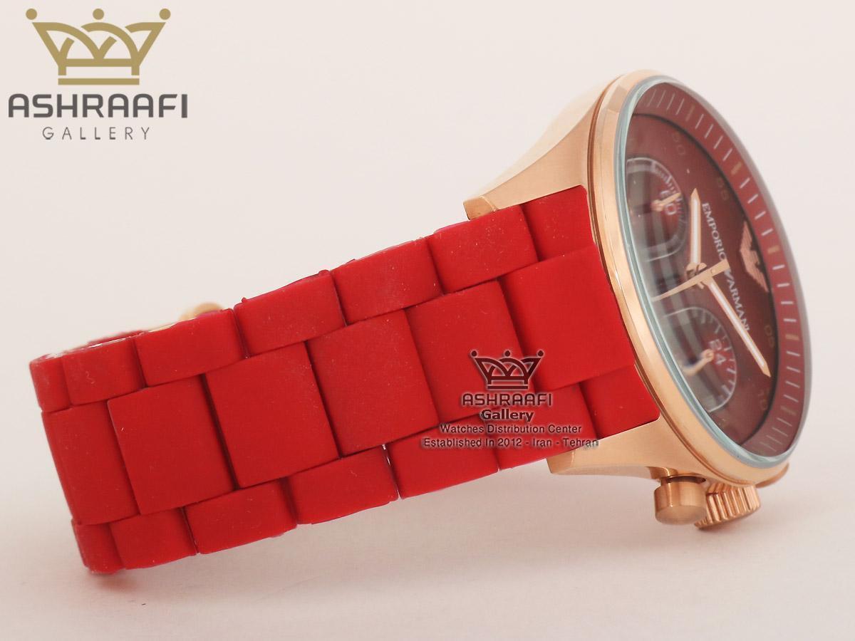 ساعت صفحه قرمز مردانه و زنانه آرمانیEmporio Armani AR5890R