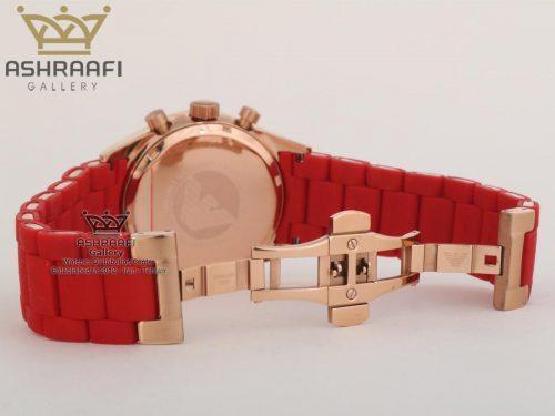 قفل ساعت امپریو آرمانی قرمز رنگEmporio Armani AR5890R