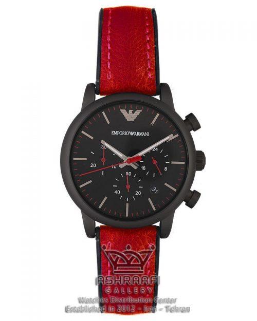 ساعت قرمز و مشکی رنگ اسپرتEmporio Armani Ar1895