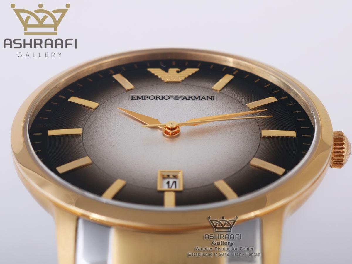 ساعت صفحه دو رنگ مشکی و سفیدEmporio Armani Ar2467