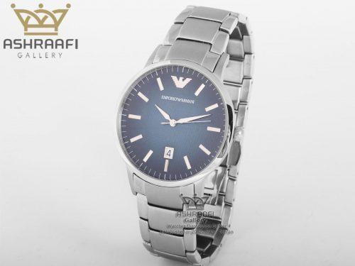 ساعت استیل صفحه سورمه ای Emporio Armani Ar2472