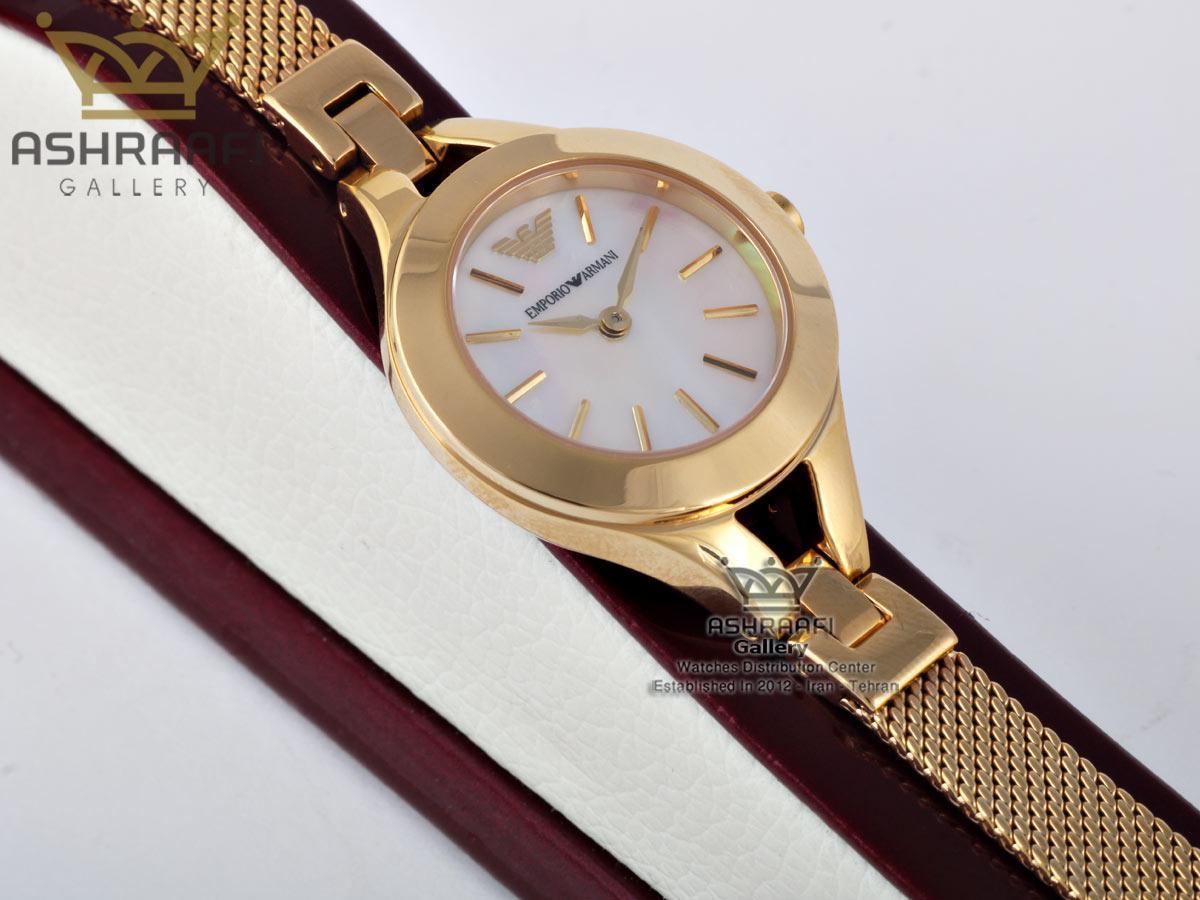 ساعت طلایی رنگ زنانهEmporio Armani ar7328G