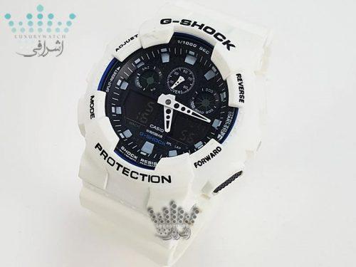 ساعت جیشاک سفید G-Shock GA-100BW