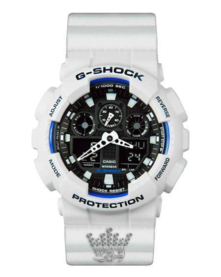 ساعت جی شاک سفید G-Shock GA-100BW