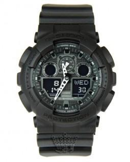 ساعت تمام مشکی جی شاک G-Shock GA-100F