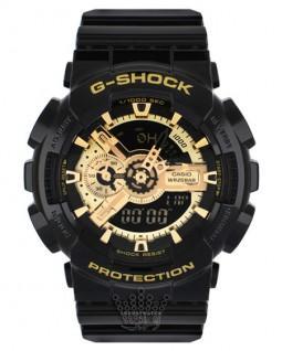 ساعت جی شاک گلد و مشکی G-Shock GA-110GBF