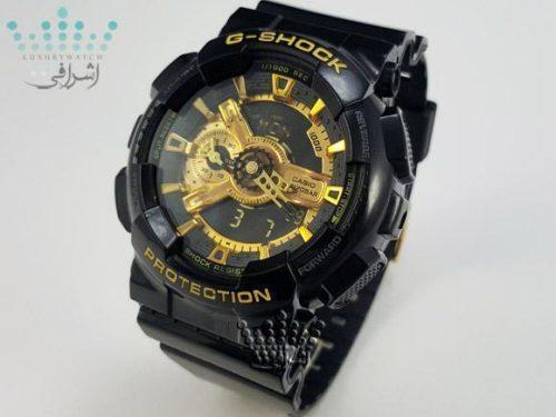 ساعت مچی جی شاک گلد و مشکی G-Shock GA-110GBF