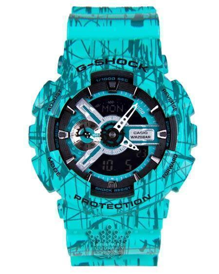 ساعت آبی رنگ جی شاک G-Shock GA-110SLF