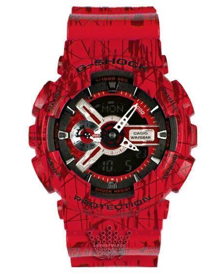 ساعت قرمز رنگ جی شاک G-Shock GA-110SLF