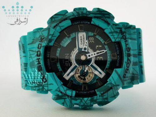 ساعت های کپی جی شاک آبی با سنسور اتولایت G-Shock GA-110SLF
