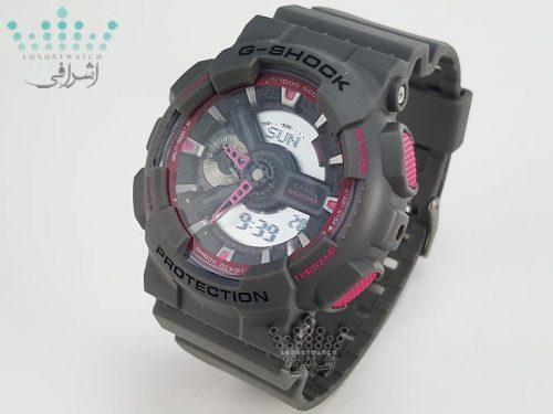 ساعت خاکستری رنگ جی شاک G-Shock GA-110TS