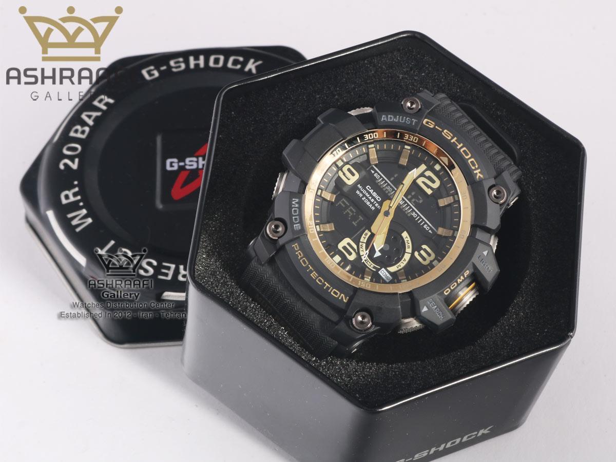 ساعت مشکی رنگ جی شاک سنسور دار G-Shock GG-1000G