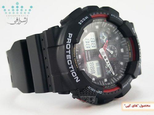 ساعت کپی جی شاک مشکی رنگ