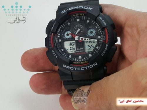 ساعت جی شاک مشکی رنگ مدل GA100