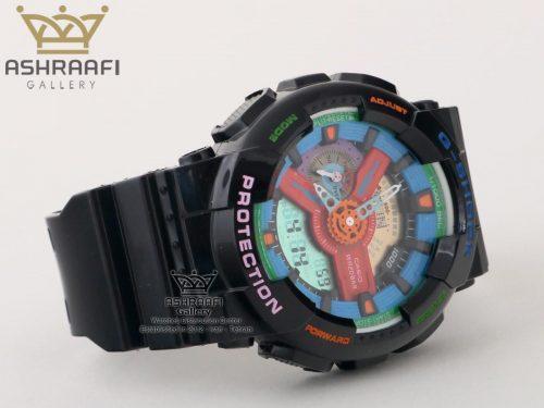 ساعت جی شاک صفحه آبی و قرمز G-shock GA-110 F7
