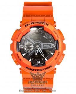 ساعت نارنجی جی شاک G-shock GA-110 HCO