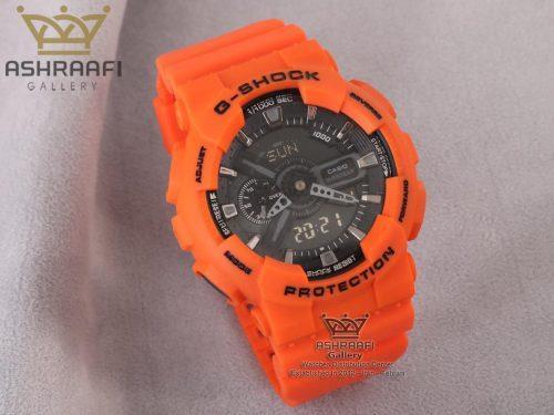 ساعت مردانه نارنجی جی شاک G-shock GA-110 HCO