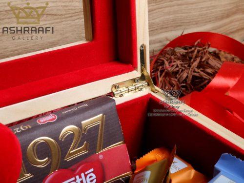 فروش جعبه ساعت مچی تزئین شده با شکلات Gift Box ashraafi-A1
