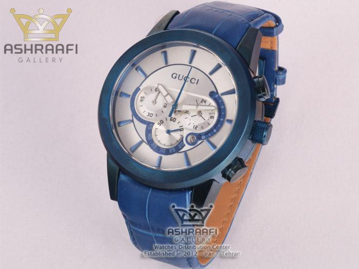 ساعت آبی مردانه گوچی Gucci 340G