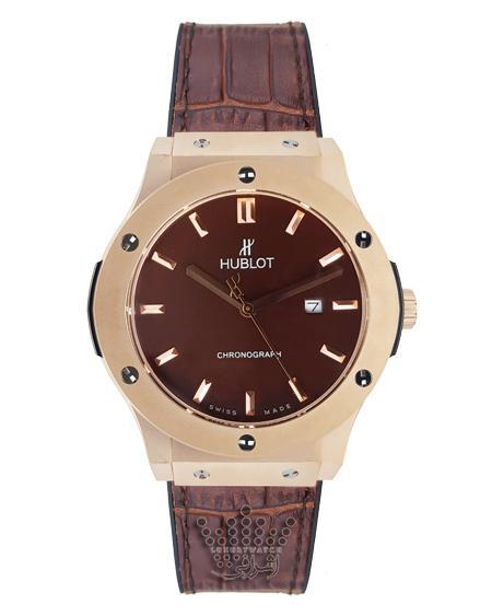 ساعت مچی شکلاتی رنگ هوبلو مدل تک موتوره HUBLOT A250G