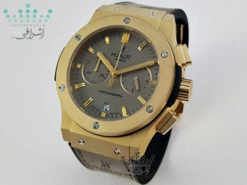 ساعت مردانه هابلوت خاکستری طلایی HUBLOT Big Bang 136