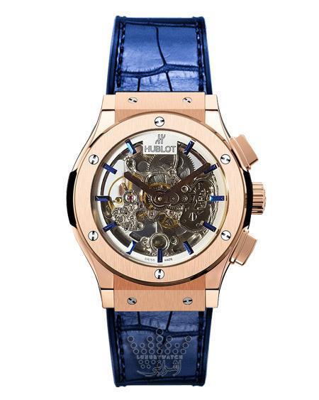 ساعت مچی هابلوت اسکلتون آبی رنگ HUBLOT S702