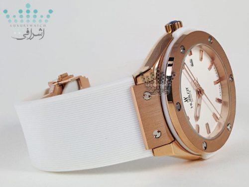 ساعت بند سفید زنانه Hublot F17W