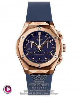 ساعت قاب هندسی آبی رنگ Hublot Orlinski RB7