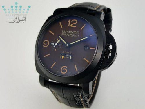 ساعت پنرای تمام مشکی Luminor Panerai 8Day 3