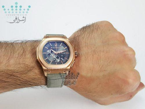 نمای روی مچ ساعت مازراتی Maserati Fuoriclasse R9