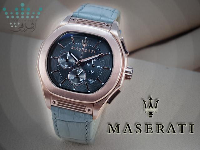 عکس تبلیغاتی از ساعت Maserati Fuoriclasse R9
