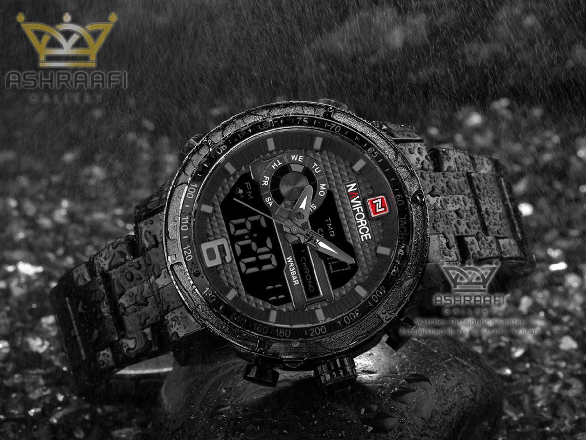 ساعت ناوی فورس تمام فلزی Naviforce 9119M