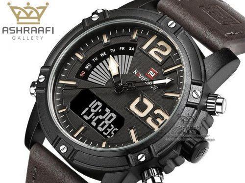 ساعت قاب خاکستری ناوی فورس Naviforce NF9095M