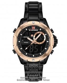 ساعت مشکی و مسی رنگ ناوی فورس تمام فلزی Naviforce NF9120M